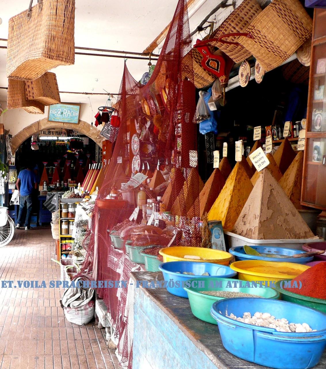 Essaouira, Gewürzmarkt in der Altstadt