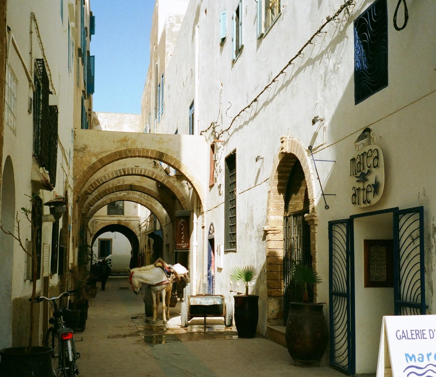 Essaouira, Altstadtgasse nahe Bab Sbaa