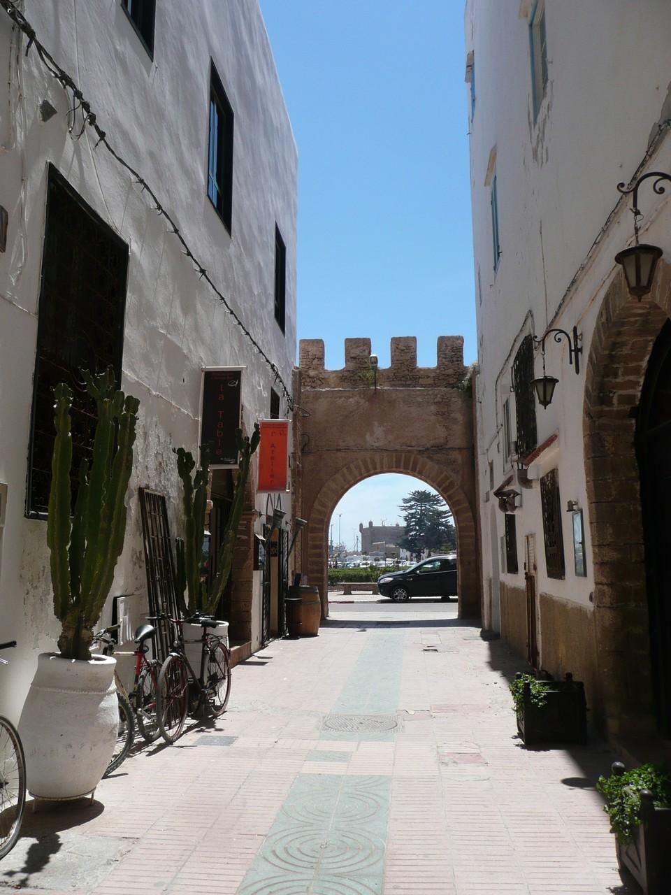 Essaouira, Altstadtgasse Richtung Hafenscala