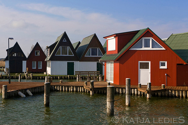 Fischland Darß-Zingst: Bootshäuser Ahrenshoop