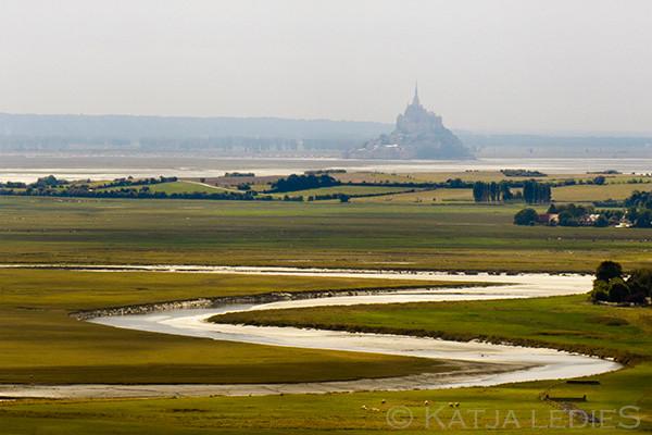 Mont Saint-Michel: Aus der Ferne