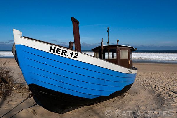 Usedom: Blaues Boot