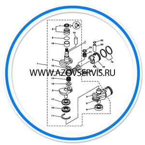 Ремонт коленчатых валов лодочных моторов (переприссовка)
