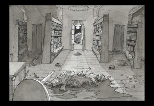 dessin illustration Dunwich Wilbur Watheley aquarelle stylo encre