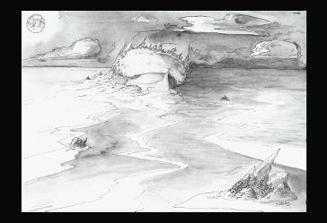 illustration howard phillips lovecraft stylo aquarelle