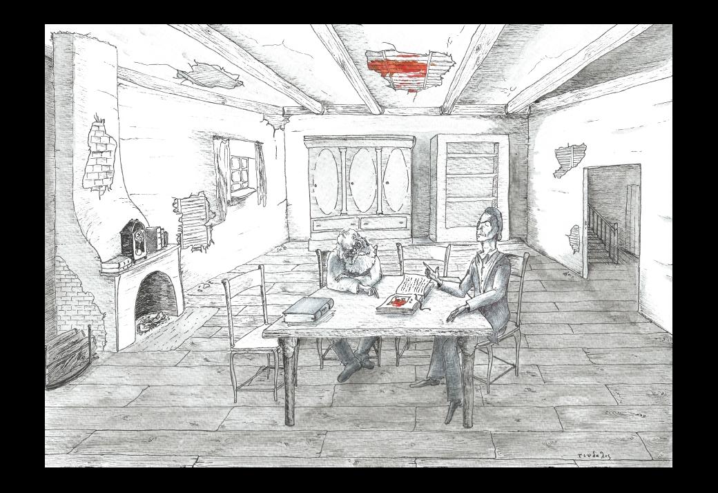 L'image dans la maison déserte