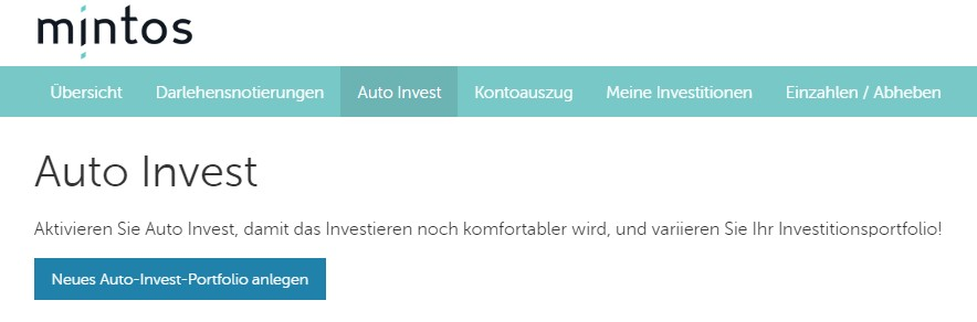 Mintos Auto-Invest P2P-Kredite