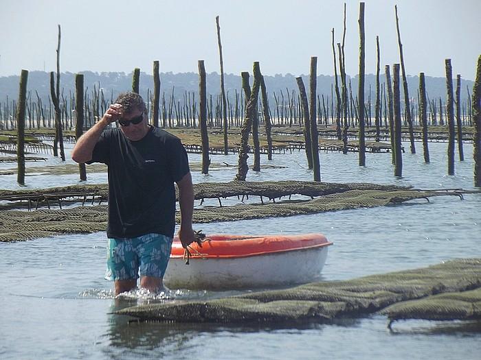 voir les huîtres cap ferret Pascaud Thierry choisit les huîtres