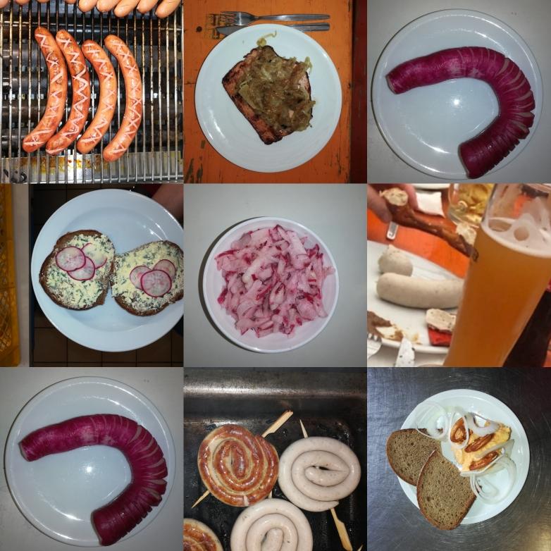Speisenauswahl auf dem Rettichfest
