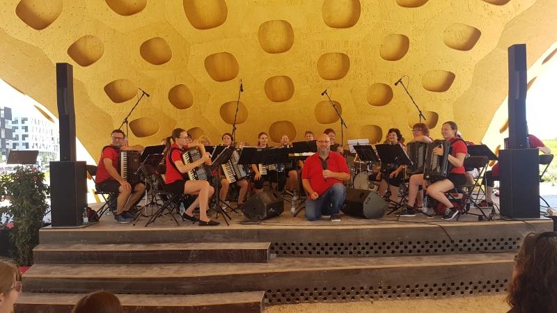 1. Orchester beim Tag der Harmonika auf der BuGa