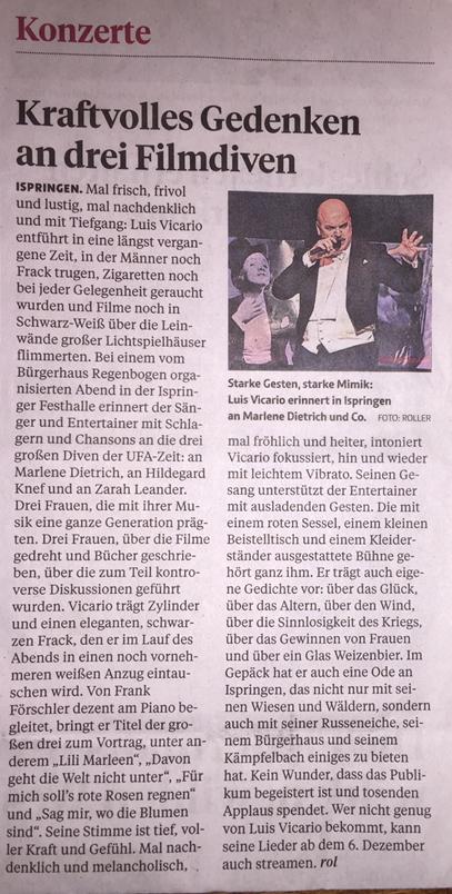 Quelle: Pforzheimer Zeitung Nr. 267, Montag 18. Nov. 2019