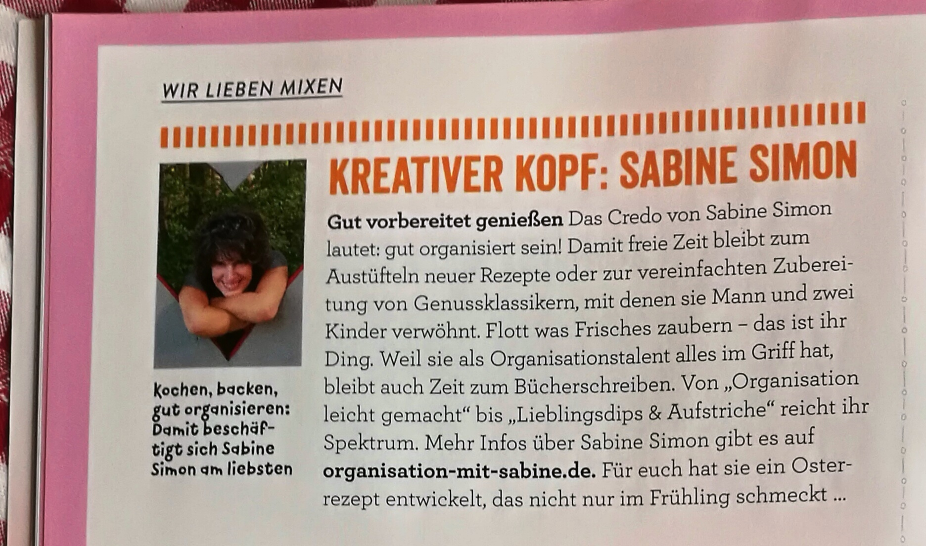 """Ich bin der """"Kreative Kopf"""" im Magazin """"Rezepte mit Herz"""" 02/21"""