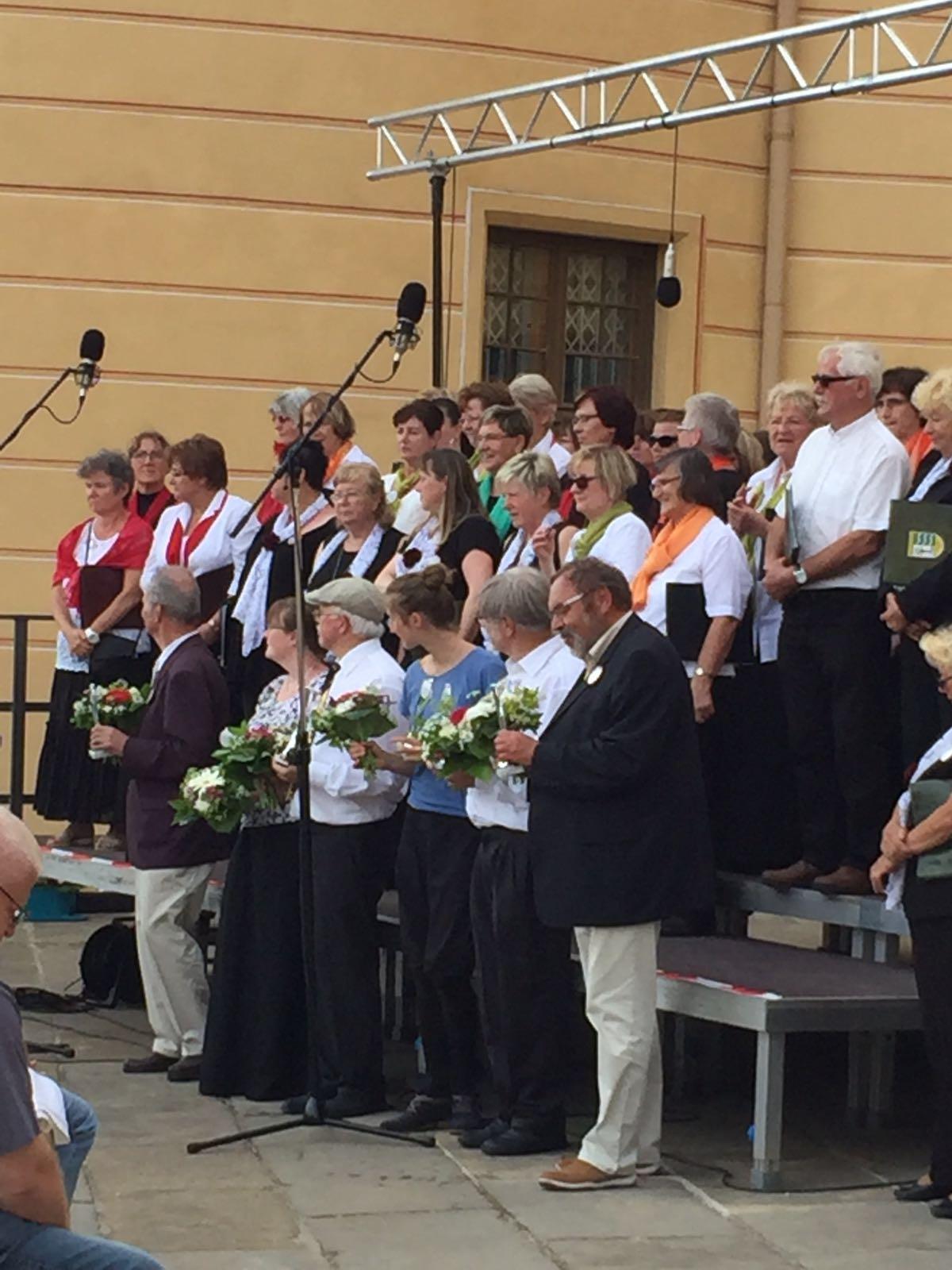 Danksagung an die musikalischen Leiter der Chöre