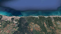 Vista aérea de la zona de Can Picafort. Imagen de Google Maps.