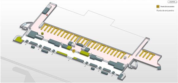 Punto de encuentro en planta 0 del Aeropuerto de Palma (PMI)