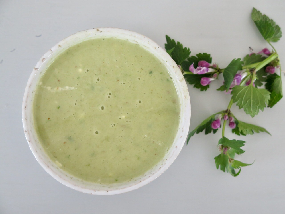 Brennnessel-Taubnessel-Suppe
