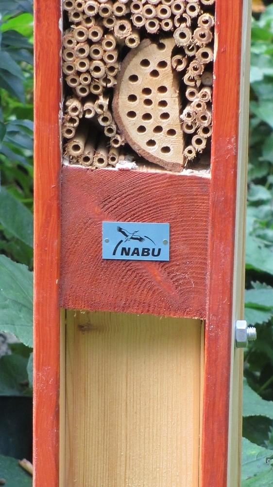 Insektenhotel im Bestattungsgarten in Flur 24