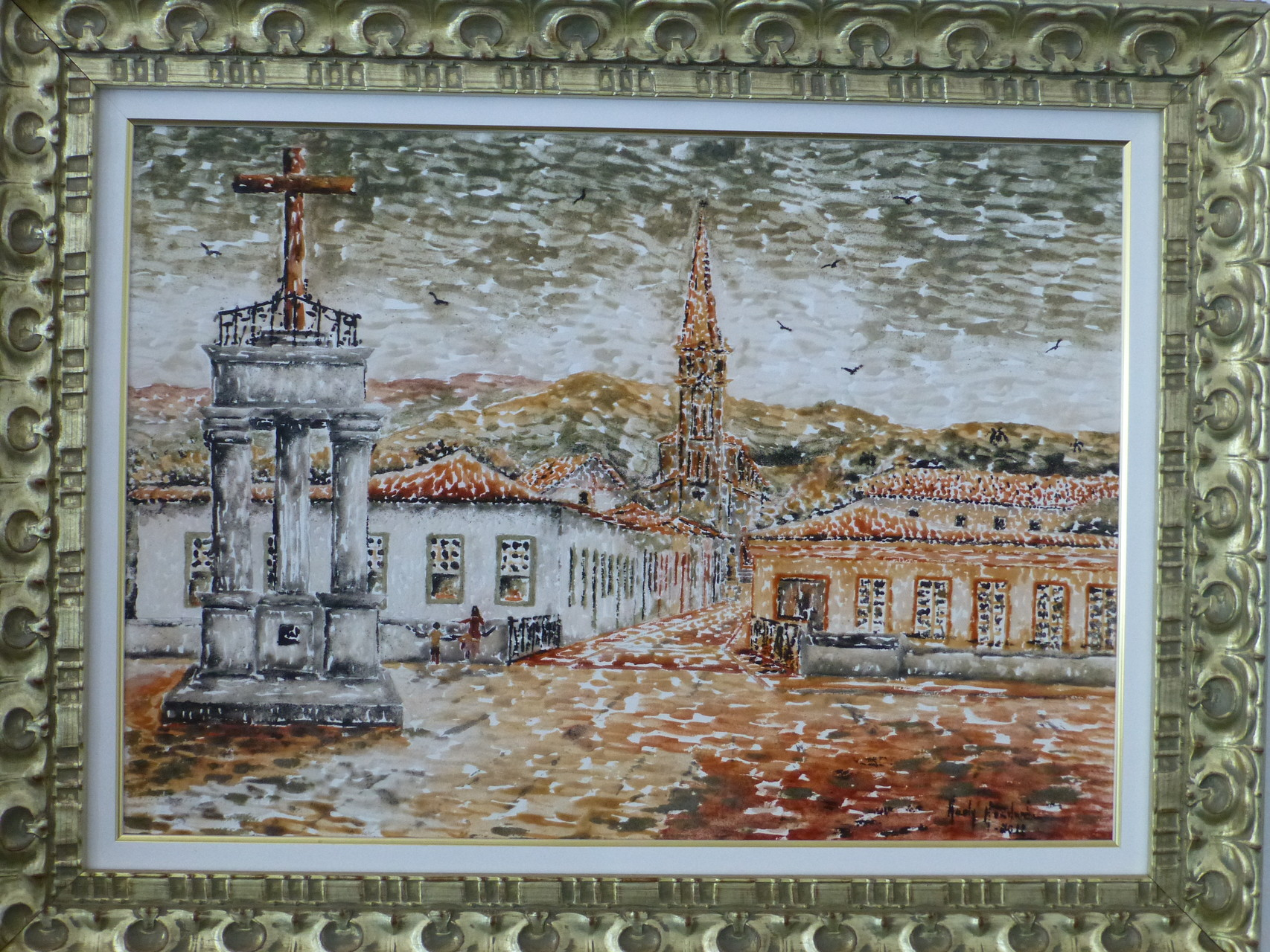 Malen mit Erde - Künstlerin Goiandira de Couto