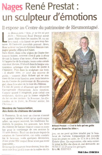 René Prestat expose au château de Nages