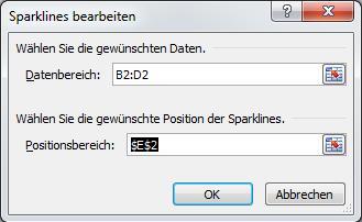 Sparklines - Dialog