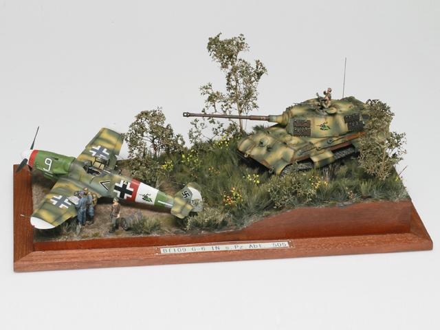 タミヤ賞ミリタリー部門 キンちゃん様 「BF109-G6 IN s.Pz.Abt.505」