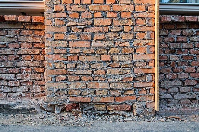 Mauer aufziehen
