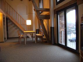 Foto der Maisonettesuite Querkanal im Hafenspeicher in Stralsund