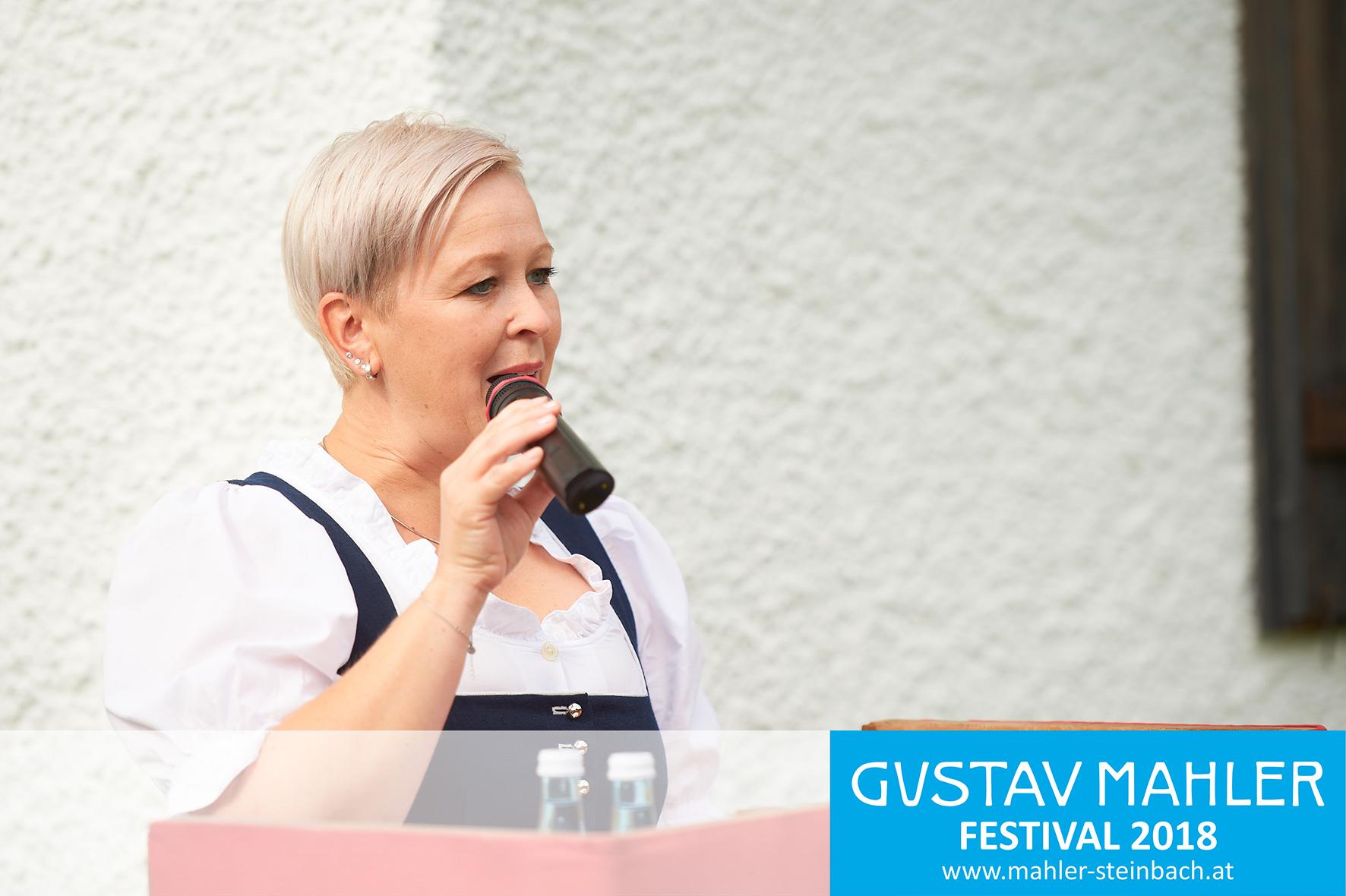 Bgm. Nicole Eder, Eröffnung, 3. Gustav Mahler Festival Steinbach
