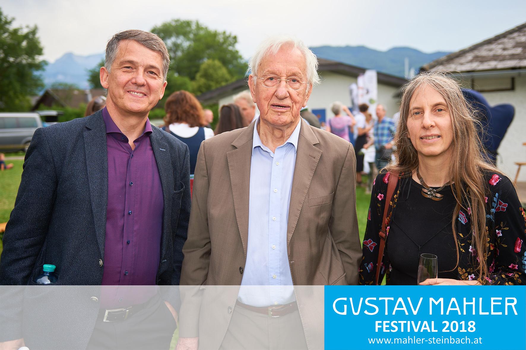 Dr. Morten Solvik, Prof. Walter Deutsch, Iby Jolande Varga - 3. Gustav Mahler Festival Steinbach