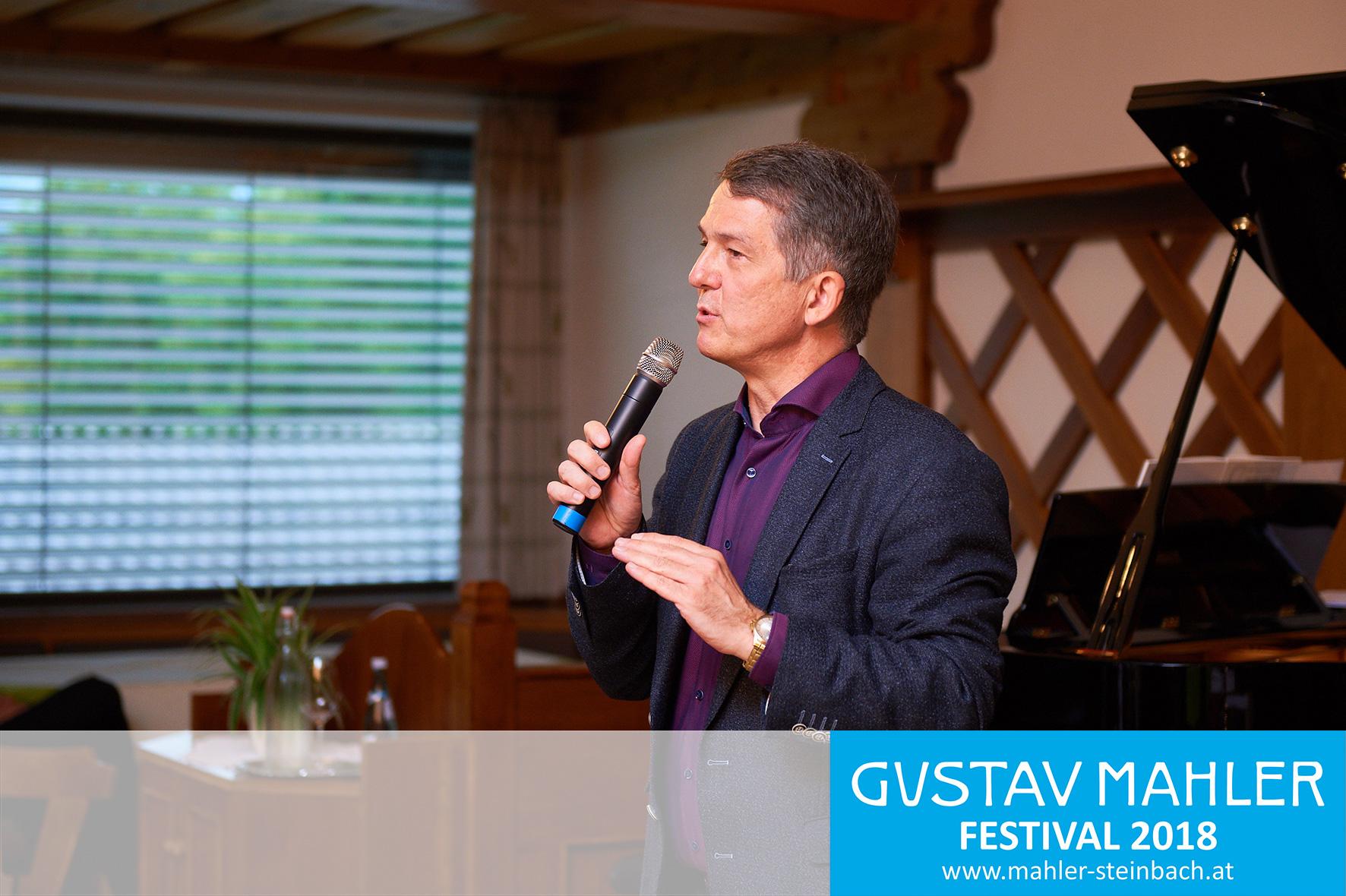 Morten Solvik,  Eröfffnung 3. Gustav Mahler Festival