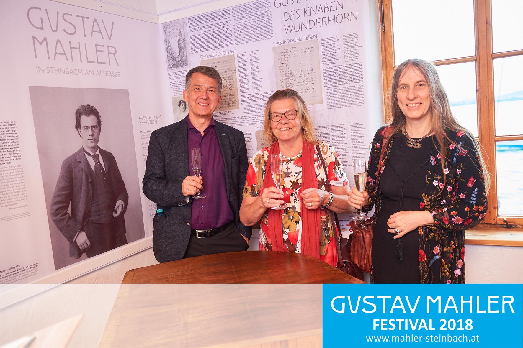 Team Ausstellung: v.l. Dr. Morten Solvik, Dr. Renate Stark-Voit, Iby Jolande Varga