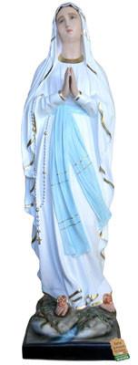 statua Madonna di Lourdes in vetroresina cm. 156