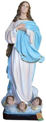 Statua Madonna Assunta del Murillo in vetroresina cm. 157