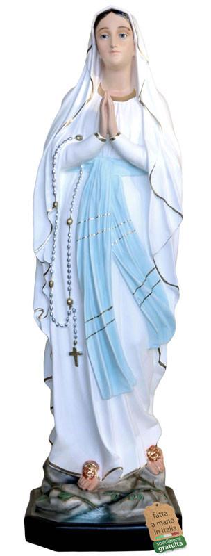 Statua Madonna di Lourdes dipinta a mano