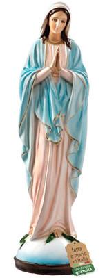 statua Madonna Miracolosa mani giunte in resina cm. 65