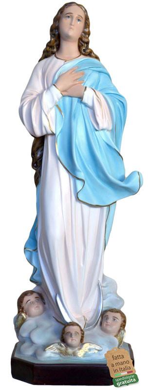 statua Madonna Assunta Assunta del Murillo per nicchie