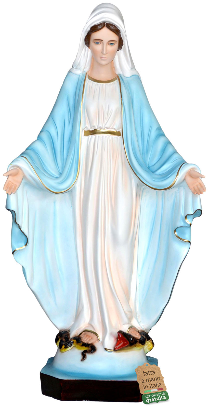 statua Madonna Miracolosa vetroresina