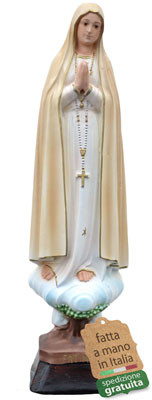 statua Madonna di Fatima in resina cm. 35