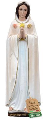 Statua Maria Rosa Mistica in resina cm. 47