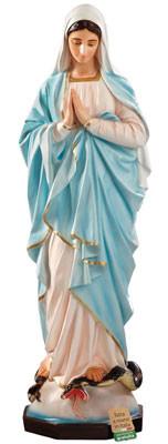 statua Madonna Miracolosa mani giunte in vetroresina cm. 135