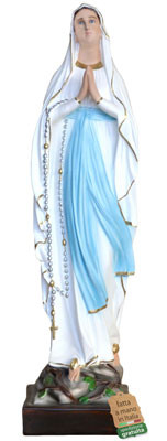 statua Madonna di Lourdes in vetroresina cm. 87