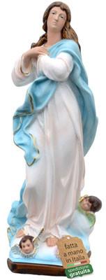 Statua Madonna Assunta del Murillo in resina cm. 52