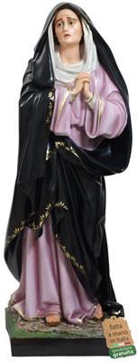 Statua Madonna Addolorata in vetroresina altezza cm 107