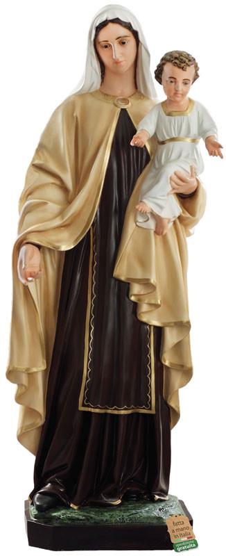 Statua Madonna del Carmine in vetroresina