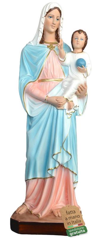 Statua Madonna con Bambino in resina