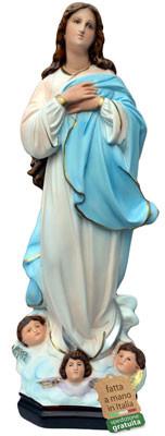 Statua Madonna Assunta del Murillo in resina cm. 63
