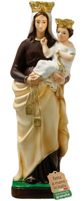 statua Madonna del Carmine in resina cm. 42