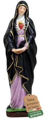 Statua Madonna Addolorata in resina altezza cm 30