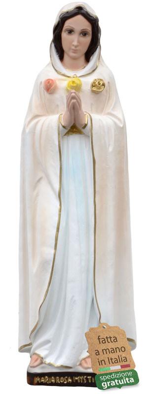 Statua Maria Rosa Mistica in resina