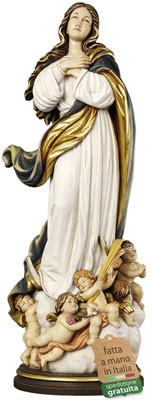 Statua Madonna Assunta del Murillo in legno